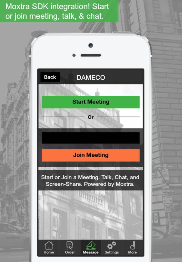Moxtra-DAMECO integration