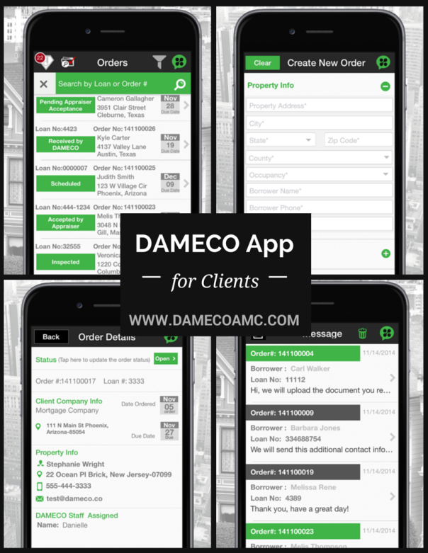 DAMECO App for Clients